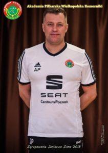 Trener L.K.S Wielkopolska Komorniki Przemysław Jankowski